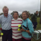 Winners of the June Tournament having been presented with their prizes
