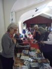 Sue Sanderson running the book stall